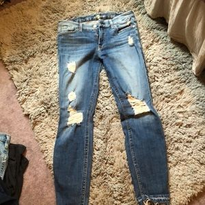 7 for all mankind skinny ankle distressed